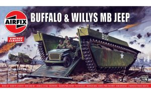 Airfix Buffalo and Willys MB Jeep 1:76