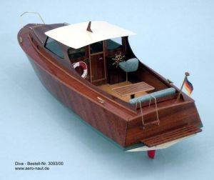 Aeronaut Diva Cabin Cruiser AN3093/00 Model Boat Kit | Cornwall Model Boats