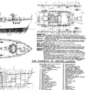Marine Modelling Fairmile B Model Boat Plan MAR2140