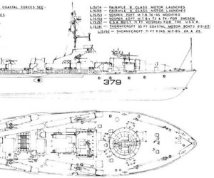 Marine Modelling Vosper 73ft MTB Model Boat Plan MAR2175 | Cornwall Model Boats