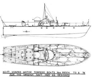 Marine Modelling Vosper 60ft Swedish MTB Model Boat Plan MAR2179 | Cornwall Model Boats