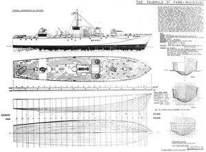 Fairmile F Model Boat Plan Mar2342 Cornwall Model Boats