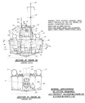 Vosper 70ft MTB Model Boat Plan MAR2343 | Cornwall Model Boats