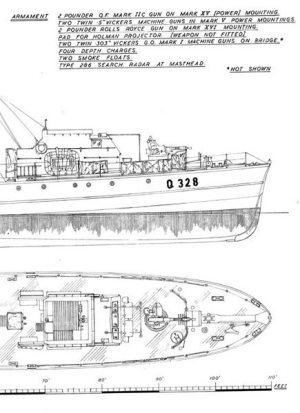 Fairmile C MGB Model Boat Plan MAR2419 | Cornwall Model Boats