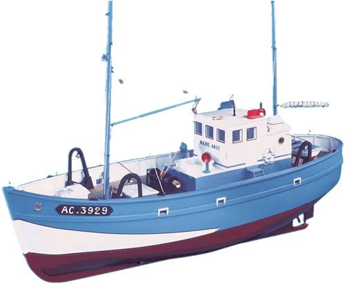 New Maquettes Marie Ange, Coastal Fishing Trawler Model ...
